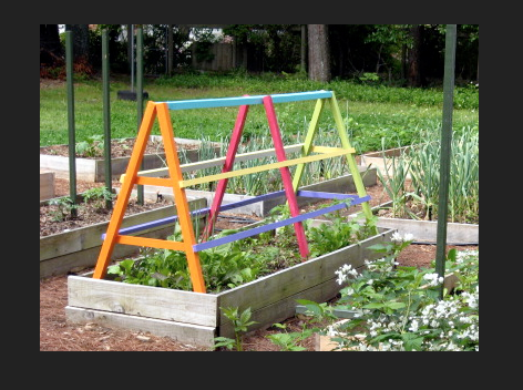 I found this image of a trellis online and thought it would be perfect for the garden ... strong, sturdy and just the right height for children to harvest.
